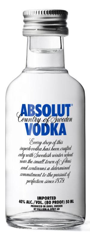 Absolut Vodka 12er Pack mit je 5 cl 40% Vol.