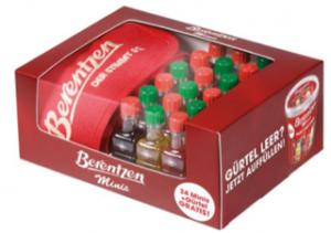 Berentzen Shötli Gürtel mit Miniaturen 24er Pack mit 2cl 21% Vol