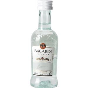 Bacardi Carta Blanca 10er Pack mit je 5 cl 37,5% Vol.